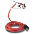 welding earth cable with flexible welding cable 35-70 dinse plugs