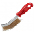 stainless steel wire brush green handle