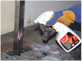 cal guard anti spatter spray used for mig welding