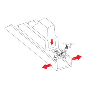 PE10M expando inserting a panel into a U chanel
