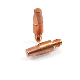 10 Pack - MIG Welding Contact Tip 0.6mm M6 x 28mm x 8mm ref 140.0005