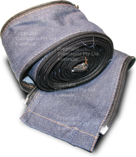 welding torch cable cover sheath unzipped