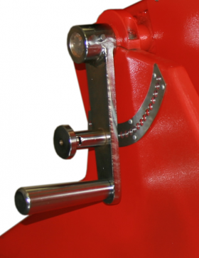 welding positioner swing adjustment handle