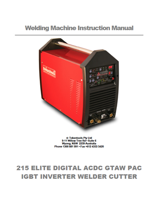Metalmaster215 Elite Digital Manual