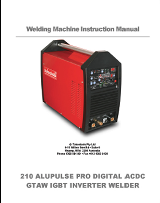Metalmaster Alupulse 210 Pro Manual