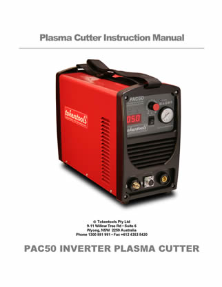 PAC50P Inverter plasma cutter Manual