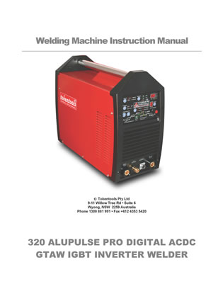Metalmaster Alupulse 320 Pro Manual